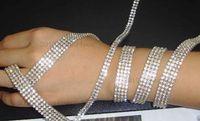 Wholesale R2 Yard rows Diamond A Rhinestone Wedding Cake Banding Trim Cake Ribbon Decoration