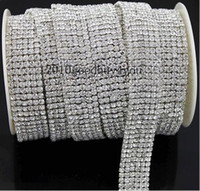 rhinestone cake banding - 1 Yard rows Diamond A Rhinestone Wedding Cake Banding Trim Cake Ribbon Decoration