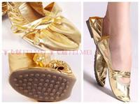 Wholesale Top Quality Belly Egypt Dance Shoes Golden or Silver Eleusine Indica Soft Bottom Shoes AMY D003