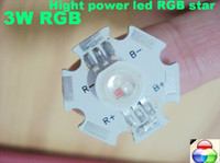 Wholesale NEW W hight power led star RGB Star LED x1W power LED red green blue Color Stage lighting