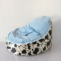 Wholesale cost NEW DESIGN COW original doomoo light blue baby beanbag for boys funny baby chair