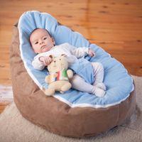 Wholesale cost doomoo baby sleeping beanbag chair with light blue top