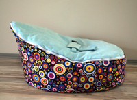 Wholesale cost multicolor dots vintage and bubble design doomoo baby beanbag chair