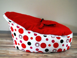 Wholesale cost fashion red bubble doomoo baby beanbag seat