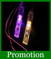 Wholesale Hot Colorful flash light emitting LED whistles kids Toys gifts Concert party promotion