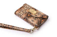 Wholesale Deiking Snakeskin Luxury Leather Pouch Case Wallet Purse with Card Slot for S Accessories New