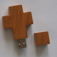 Wholesale wood cross housing Wooden usb flash pen disk GB p Flash Memory Stick Drive