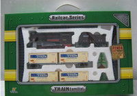 Wholesale 4 carriages of the train steam engine Electric Train tracks toy building blocks Educational Toys