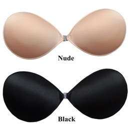 Wholesale In Stock Nude Black Strapless Backless Invisible Self Adhesive Silicone Breast Bra Pad Wedding Dress Bridal Gown Prom Evening Dress Gown