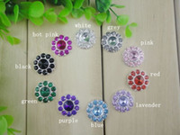 Wholesale 22mm Bling Button Alloy Metal Buttons Colorful Rhinestone Sparking Rhinestone Newborn Photography Props QueenBaby