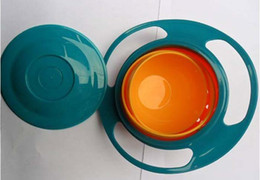 Wholesale UFO gyroscope rotating bowl baby bowl toy would not fall in the bowl for kids UFO bowl