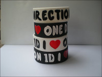 Wholesale 1 quot wide band I LOVE ONE DIRECTION D wristband silicon bracelet colours
