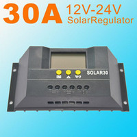 Wholesale SOLAR30 Solar Charge Controller Regulator LCD display A V V W solar panel regulator