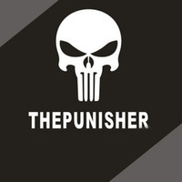 aluminum tank heads - Cheap Cool Car Decals THE PUNISHER Bumper stickers fuel tank sticker custom stickers