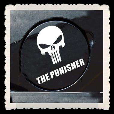Car Styling THE PUNISHER Funny Car Decals Reflective Graphics For - Funny car decal stickers