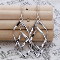 Wholesale TOP Best gift free P amp P Silver fashion jewelry charm Elegant new fine earring