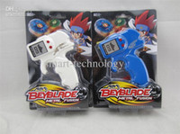 Wholesale Beyblade Top Launcher Batteries Operated Spinning Tops Launcher EMS