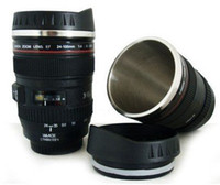 Wholesale Camera Lens Mug Stainless steel Coffe Cup Travel MM f Promotional