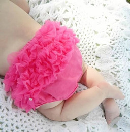 Wholesale Baby pettiskirt pants infant petto pants ruffle PP pants underpants toddler ruffle bloomer diaper