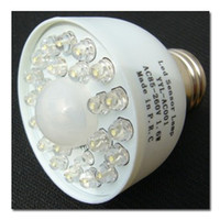 Wholesale PIR LED Sensor Lamp Bulb Light led motion sensor light E27 AC85 V V V leds F5 W EB2101