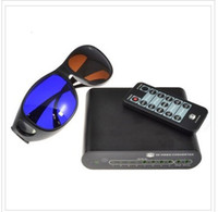 Wholesale 2D To D Converter and Multi Media Player TV Box D Anaglyphic Glasses