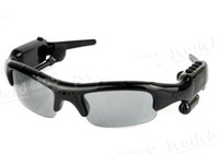 Wholesale 5 in Spy Sunglasses Sun Glasses Spy camera video gb in momery MP3 bluetooth FM Radio Spy Video
