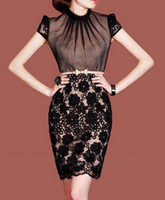 2012 New Style Fashion Dresses Plus Size F48 Elegant Black L...