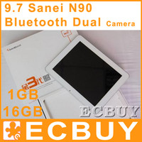 Wholesale Sanei N90 quot IPS A10 Ghz DDR3 GB GB Dual Camera Bluetooth Android tablet pc Market