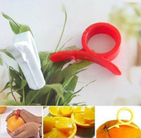 Wholesale Orange Lemon Citrus Fruit Platic Easy Slicer Cutter Opener Peeler Remover Scaler with tracking number
