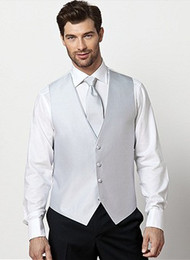 Wholesale Men Pique Backless Vest Groom Backless Vest for Tails suit