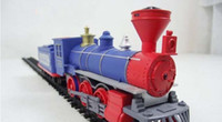 Wholesale 8 carriages of the train steam engine Medium sized electric train track Toy building blocks