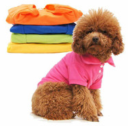 Wholesale Supplies New Puppy Pet Dogs Clothes POLO Cotton Jacket T Shirt I Dog Clothing Size XS S M L