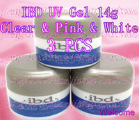 Wholesale 3 Colors IBD UV Builder Gel Nail Art Clear Pink White oz g