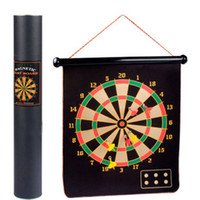 Wholesale FELT ROLL UP quot DART BOARD WITH MAGNETIC DARTS FUN