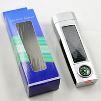 Wholesale supply solar energy flashlight solar flashlight with compass from kakacola shop