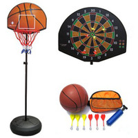Stand   2 In 1 Basketball stands with Darts target for Children gift indoor toy