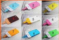 Wholesale EMIE icelick Slider D cream Ice Lolly Hard Plastic skin holder Case cover For Iphone G S