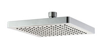 "Chrome Polished Square Free shipping Bathroom 8"" (200mm) Rain Overhead Shower Head ABS Plastic Thicken Chrome Finish 21010"