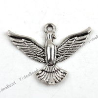 eagle pendant - 60 Eagle Shpaed alloy Pandent Charms Pendants In Stock Fit Necklace DIY
