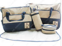 Wholesale new nappy bag set high quality baby bag Multi function mummy bag colors to chose m4002