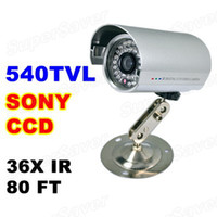 Wholesale 540TVL High Resolution Security CCTV Camera Inch Chip Color CCD LED IR Outdoor Bullet Camera