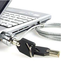Notebook ordinateur portable PC Security Lock chaîne câble 10pcs / lot shpping gratuit avec numéro de suivi