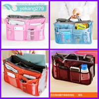 Polyester Bag  6pcs Makeup MP3 Phone Storage Organizer Sundry Bags Cosmetics Receive Package Multi Two Zipper Bag