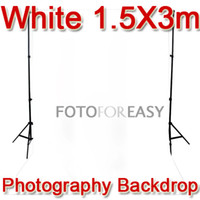 Wholesale 1 x3m White Non woven fabric Photo Photography Backdrop Background Cloth x10ft