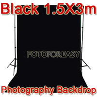 Wholesale 1 x3m Black Non woven fabric Photo Photography Backdrop Background Cloth x10ft