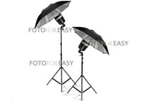 Wholesale 2X SY8000 Photo Studio Strobe Flash Light Bulb W quot Umbrella Lighting Stand Kit