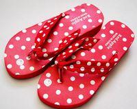 Wholesale 10 pair women flip flop dots foam beach shoes slippers