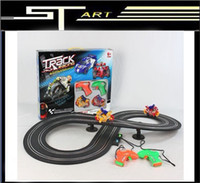 Wholesale 2pcs A motorcycle electric track with music and light children toys