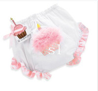 Wholesale Baby infant toddler bloomers Covers Cupcake bloomers shorts lace clothes underwear