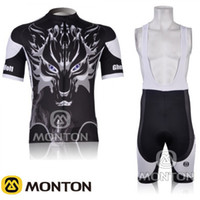 Wholesale New Ghost Wolf Bicycle Cycling Wear bike Short Sleeve Cycling Jersey Bibs Shorts set